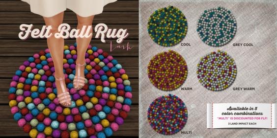 Felt Ball Rug - Ad3 2048